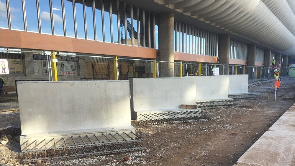 Bespoke precast concrete installation