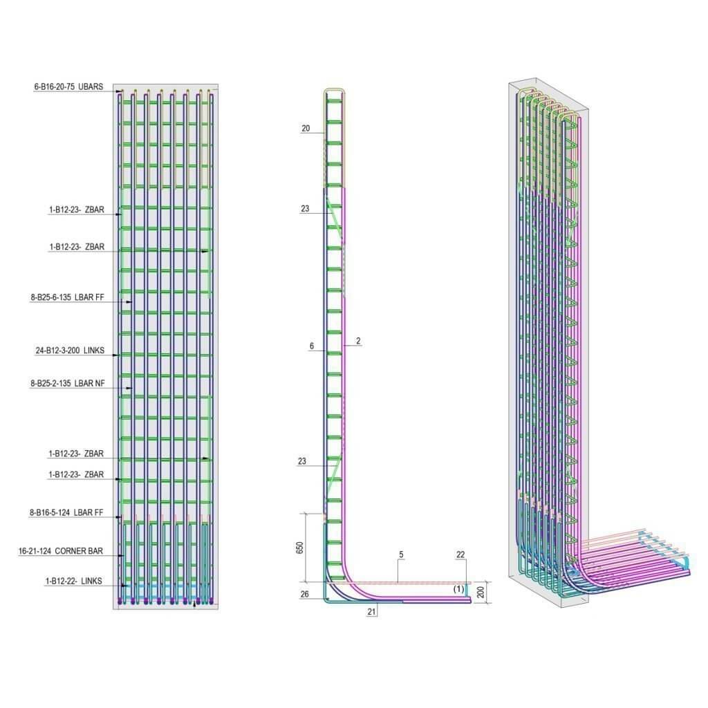 BIM retaining wall design